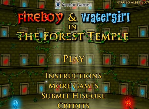 Fireboy And Watergirl 1 In The Forest Temple Free Fun Games