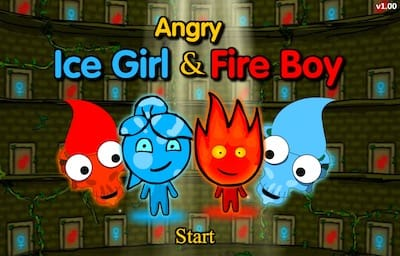 Angry Ice Girl And Fire Boy Free Fun Games