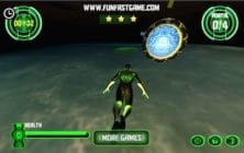 Green Lantern Flying